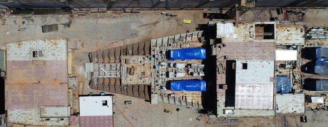 Türkiyenin ilk uçak gemisi TCG Anadolu havadan görüntülendi