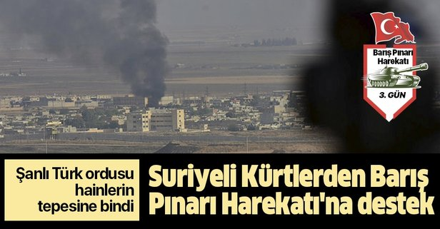 Suriyeli Kürtlerden Barış Pınarı Harekatı'na destek