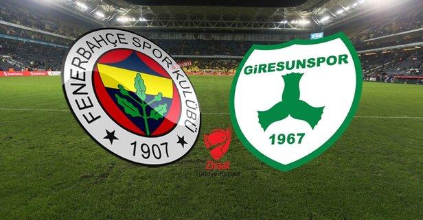 Fenerbahçe - Giresunspor maçı hangi kanalda?