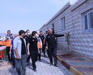 İçişleri Bakanı Süleyman Soylu, İdlib'deki briket evleri inceledi: Dramı gözlerimle gördüm