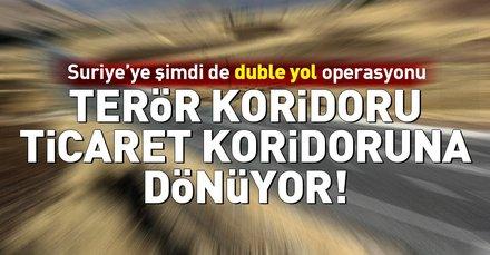 Türkiyeden Suriyeye şimdi de duble yol operasyonu