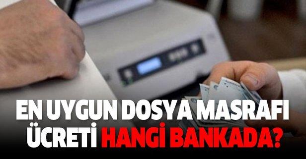 En uygun konut kredisi dosya masrafı ücretleri hangi bankada?