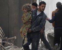 Şam'da sivillere hava saldırısı!
