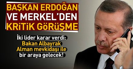 Son dakika... Başkan Erdoğan, Merkel ile görüştü