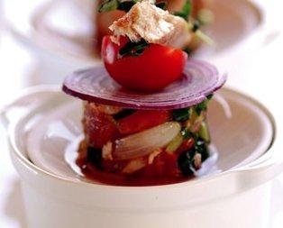 Izgara Ton Balığı Salatası Tarifi
