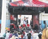 15 Temmuz şehitlerine Taksim'de 5 gün anma