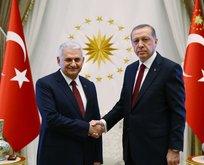 Cumhurbaşkanı Erdoğan, Başbakan Yıldırım'la görüştü