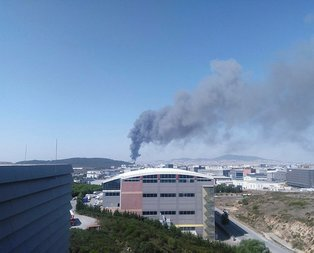 Tuzla'da fabrika yangını!