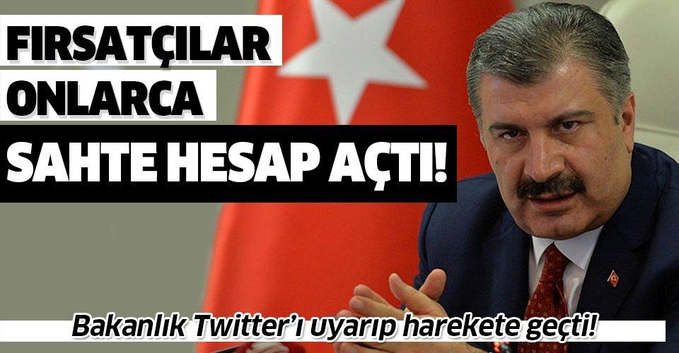 Sağlık Bakanı Fahrettin Koca adına onlarca sahte hesap! Bakanlık Twitter'ı uyararak harekete geçti!