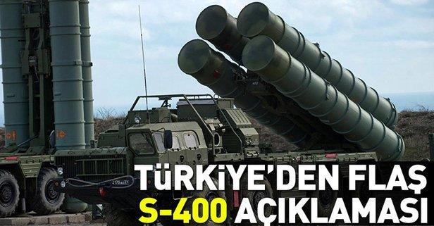 Türkiyeden flaş S-400 füzeleri açıklaması!
