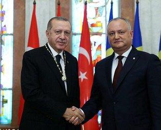 Erdoğan'dan Moldova'da FETÖ mesajı