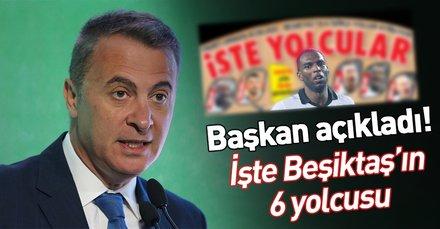 Fikret Orman açıkladı! Beşiktaş'ta 6 isimle yollar ayrılıyor