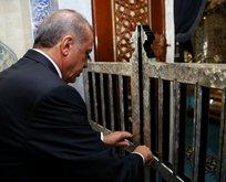 Cumhurbaşkanı Erdoğan Eyüp Sultan Camiinde Kuran okudu