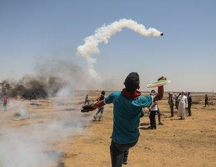 İsrail askerleri Gazze sınırında 100 Filistinliyi yaraladı
