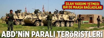 ABD'den YPG'li teröristlere maaş