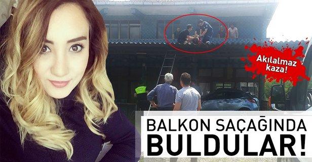 Akılalmaz kaza! Balkon saçağında buldular