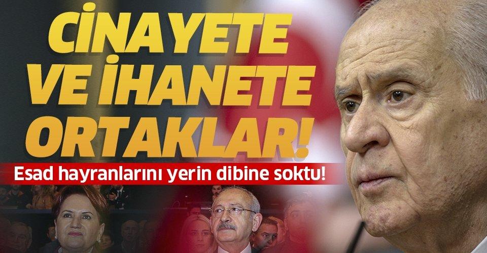 MHP lideri Devlet Bahçeli'den Esad hayranlarına çok sert tepki