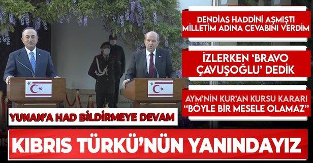 Son dakika: Dışişleri Bakanı Mevlüt Çavuşoğlu ve KKTC Cumhurbaşkanı Ersin Tatar'dan ortak açıklama - Takvim