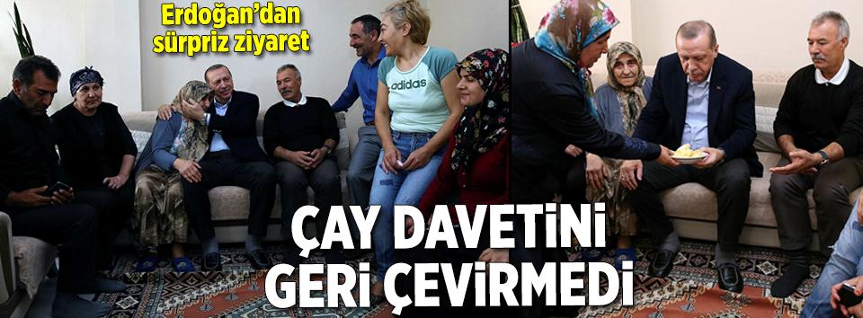 Cumhurbaşkanı Erdoğan çay davetini geri çevirmedi