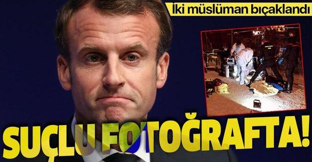 Macron hedef gösterdi 2 müslüman bıçaklandı