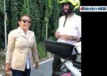 Nilüfer konserine yetişebilmek hayatında ilk defa motosiklete bindi