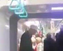 Metroda utanç görüntüsü!
