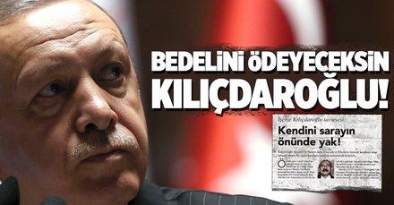 Erdoğan: Kılıçdaroğlu'na suça teşvikten davalarımızı açıyoruz