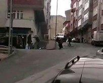 Sokak ortasında öldüresiye dövdü