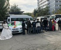 Düğün konvoyu süsü verilen araçta yakalandılar