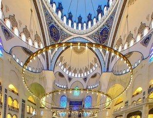Çamlıca Camiinin içi ilk defa görüntülendi!