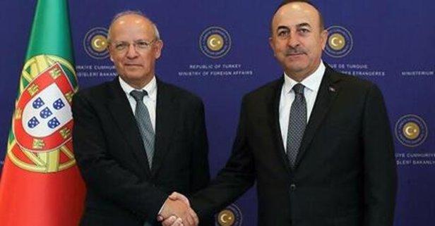 Bakan Çavuşoğlu Portekizli mevkidaşıyla görüştü