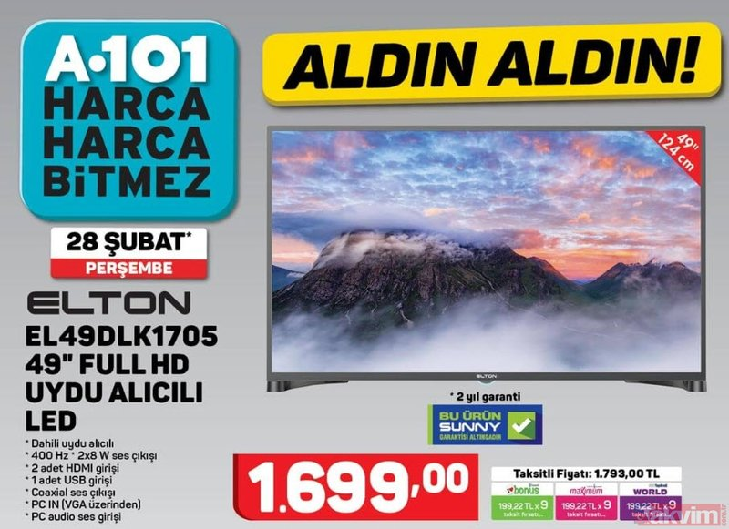 A101 28 Şubat 2019 aktüel ürünler! A101'de bu hafta hangi ürünler indirimli?