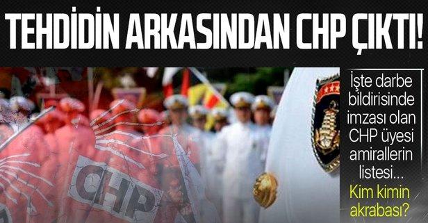 İşte o bildiriyi imzalayan CHP üyesi amiraller...