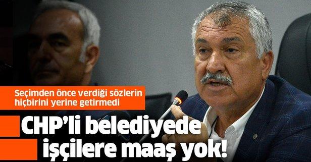 CHP'li belediyede işçilere maaş yok!