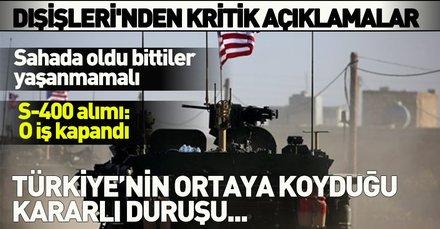 Son dakika... Dışişleri Bakanlığı'ndan ABD'nin Suriye'den çekilme kararına ilişkin açıklama