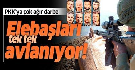 PKK'nın tepe yöneticilerine büyük darbe! Elebaşları tek tek avlanıyor