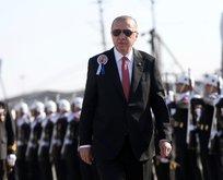 Başkan Erdoğan TCG Burgazadanın teslim törenine katıldı
