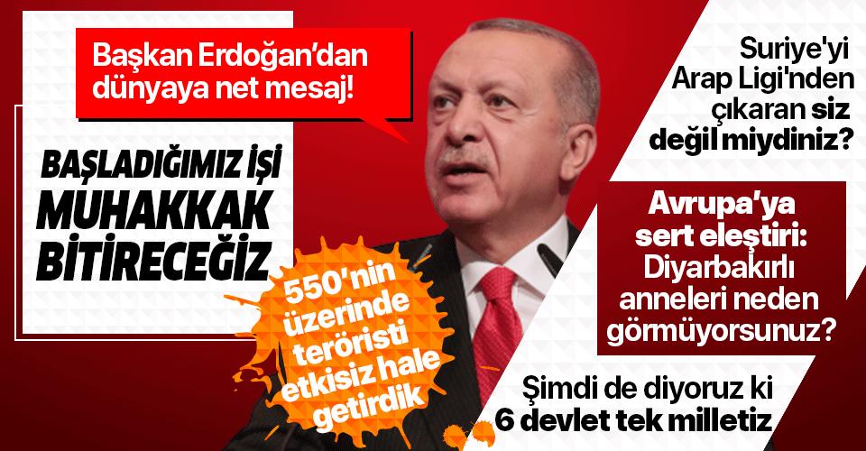 Son dakika: Başkan Erdoğan'dan Azerbaycan'da önemli açıklamalar