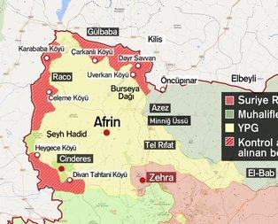 Afrinde PYDnin Türkiye sınırıyla bağlantısı kopmak üzere