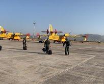İspanya'dan gelen 2 yangın söndürme uçağı Muğla'da