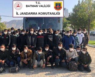 Batman'da 55 düzensiz göçmen yakalandı