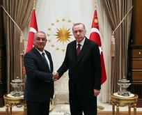 Başkan Erdoğan, Önder Aksakal'ı kabul etti