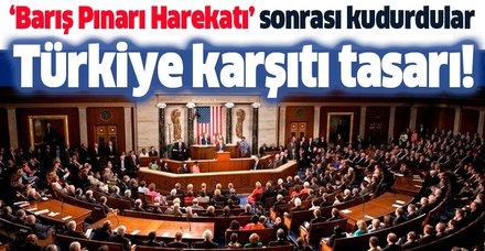 Barış Pınarı Harekatı sonrası kudurdular! ABD Senatosunda Türkiye karşıtı tasarı