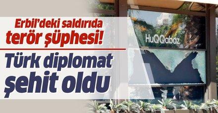 Son dakika: Erbil'de restorana silahlı saldırı! Dışişleri Kaynakları: 1 Türk diplomat şehit oldu