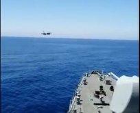 Fatih Sondaj Gemisi'ne F-16 selamı