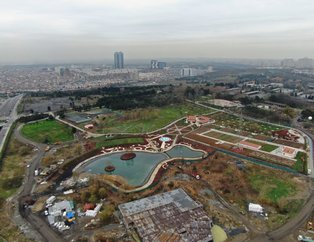 Başkan Erdoğan'ın Esenler'de açacağı millet bahçesi ve taş cami havadan görüntülendi