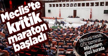 Meclis'te kritik bütçe maratonu! Flaş enflasyon mesajı