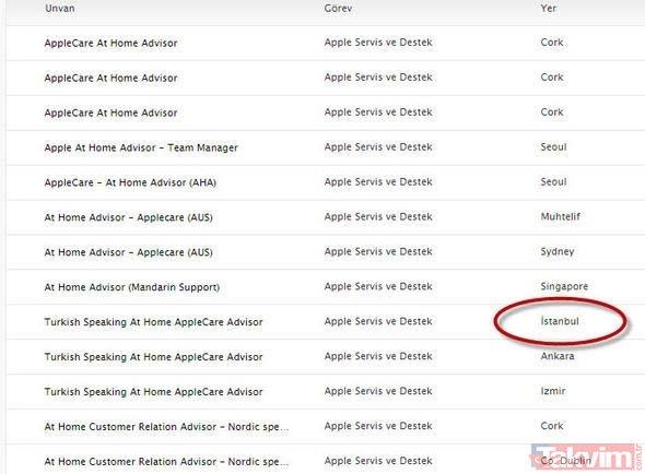 Bu soruyu bilen 15 bin TL maaşla işe başlıyor! Apple; Ä°stanbul, Ankara ve Ä°zmir´den ilan verdi