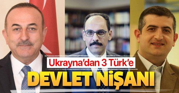 Ukrayna, 3 Türk'e devlet nişanı verdi