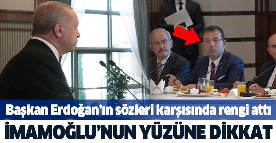 Başkan Erdoğan İBB'den işçi çıkarılmasını eleştirdi, İmamoğlu'nun rengi attı